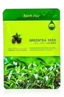 Тканевая маска FarmStay Visible Difference Mask Sheet Green Tea Seed